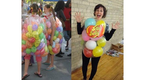 3 ladies in Jelly Bean Halloween costumes
