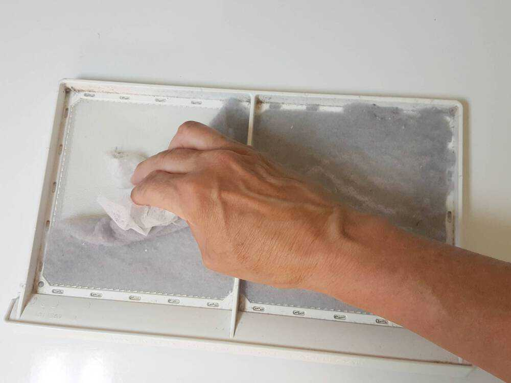 cleaning a dirt filter
