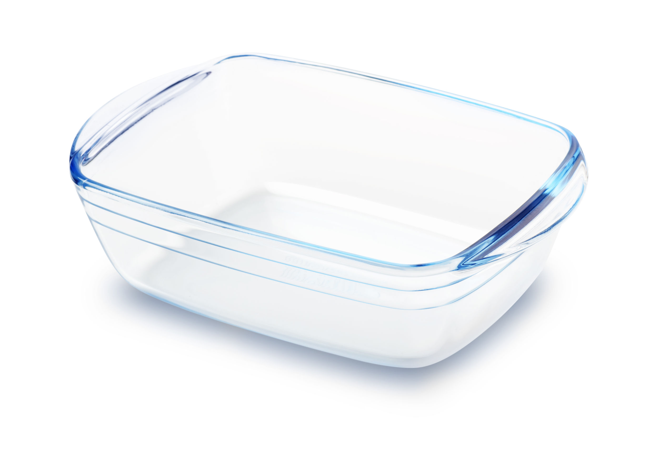 a sparkling clean rectangular glass baking dish