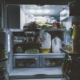 A refrigerator filled with food