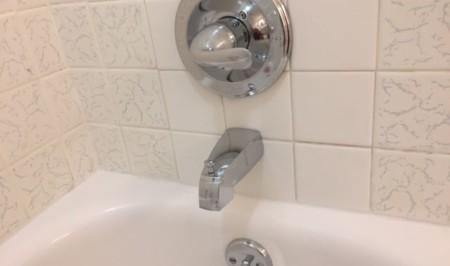 A close up of a sink