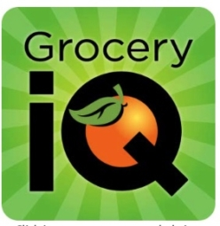 picture of a digital app called Grocery IQ that is used for online grocer shopping.