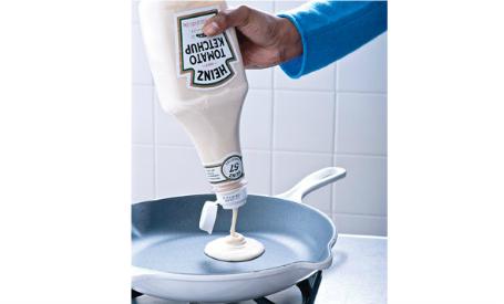 pancake batter in a bottle