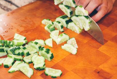 cucumber slicing pexels
