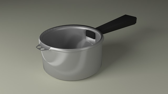 metal kitchen saucepan
